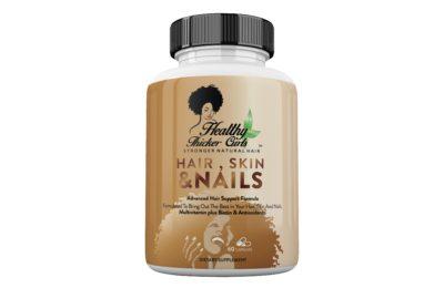 Healthy Thicker Curls Hair, Skin & Nails Vitamins - 1 Month Supply