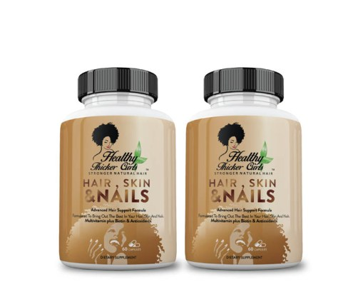 HEALTHY THICKER CURLS Hair, Skin & Nails Vitamins – 2 Month Supply