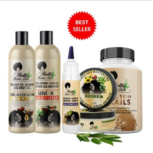 Healthy Thicker Curls Complete Hair Care Kit