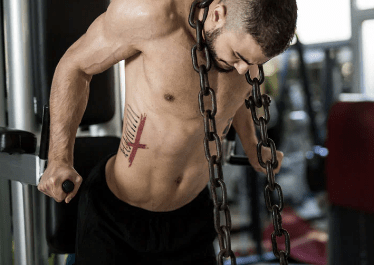 Weighted Dips Chest