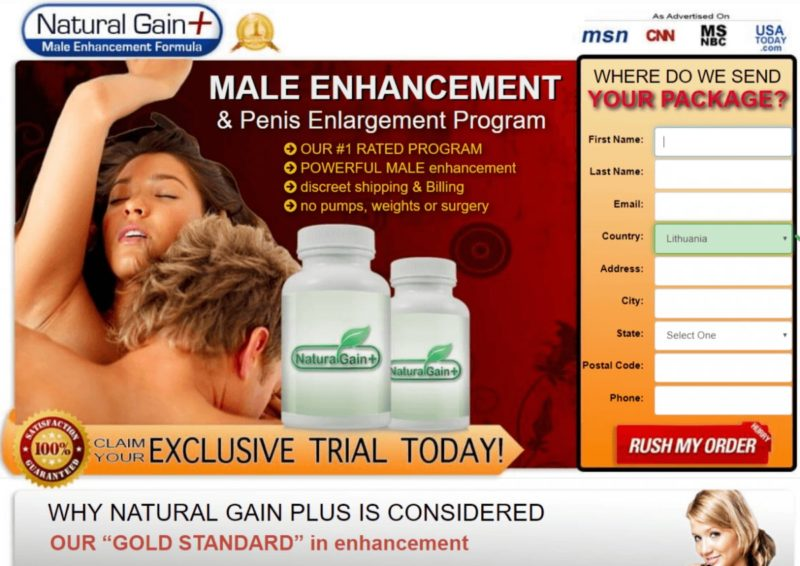 Natural Gain Plus Male Enhancement Formula
