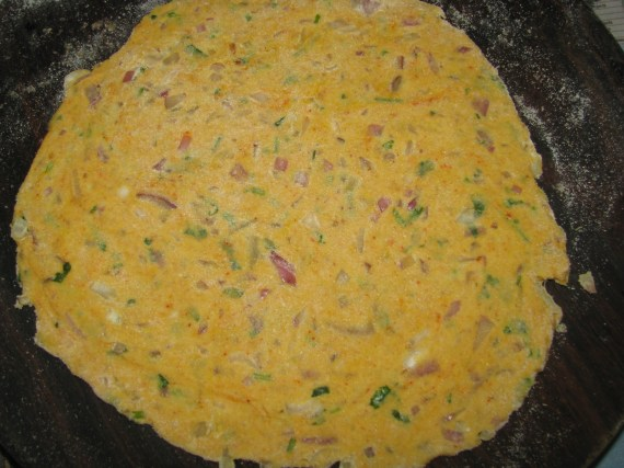 non stuffed onion paratha