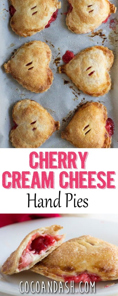 Valentine's Day Desserts - Cherry Cream Cheese Hand Pies by Coco & Ash