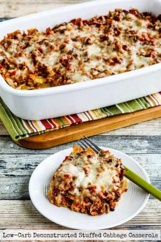 20+ Low-Carb and Keto Casserole Recipes found on KalynsKitchen.com
