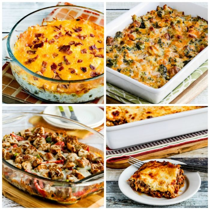 My Favorite Low-Carb and Keto Casserole Recipes second collage