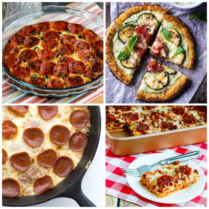 The BEST Low-Carb and Gluten-Free Recipes with Pizza Flavors top photo collage