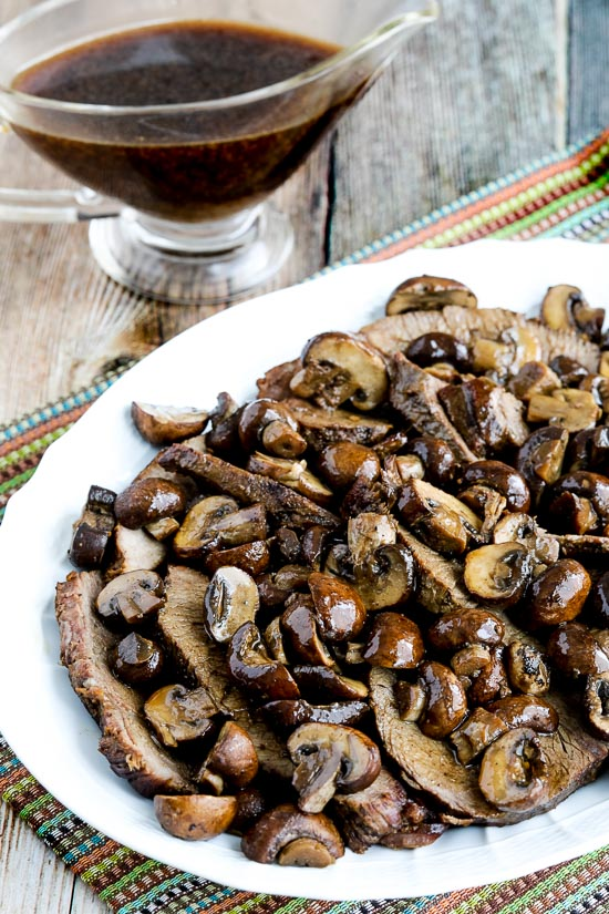 Low-Carb Slow Cooker Mushroom Lover's Pot Roast close-up photo