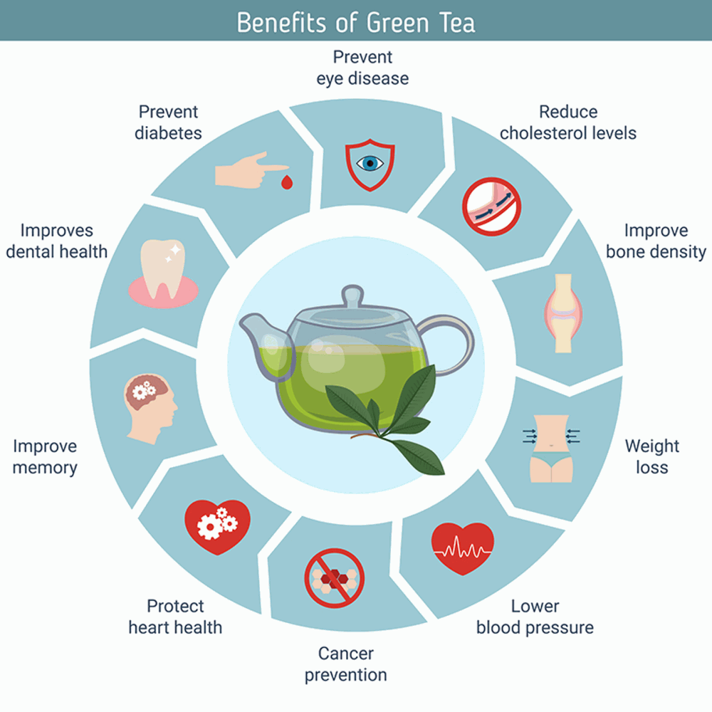 REASONS! WHY GREEN TEA BENEFITS YOU PHYSICALLY AND MENTALLY