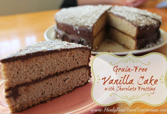 Grain Free Vanilla Cake With Chocolate Frosting Healy Eats Real