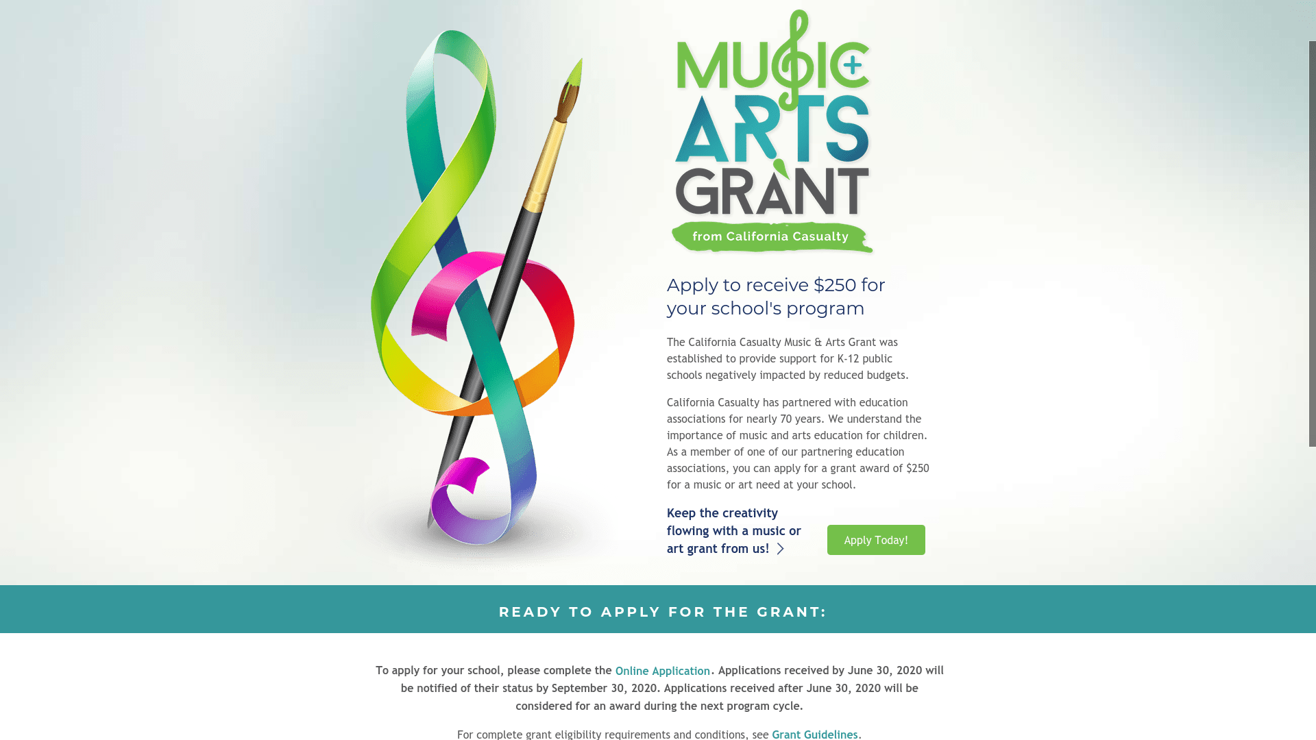 California Casualty Music and Arts Grant 2021