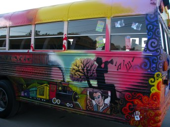 Bus - Train, Tree, Trumpet Playa & Color Field