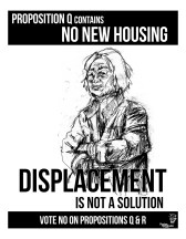"""Poster Syndicate """"Displacement is not a Solution"""" screenprint 2016"""
