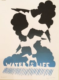"Roger Peet ""Water Is Life"" screenprint"