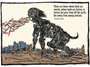 """Western Regional Advocacy Project, """"The Beast of Hatred"""" offset print 2007"""
