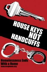 "Western Regional Advocacy Project ""House Keys not Handcuffs"" screenprint 2008"