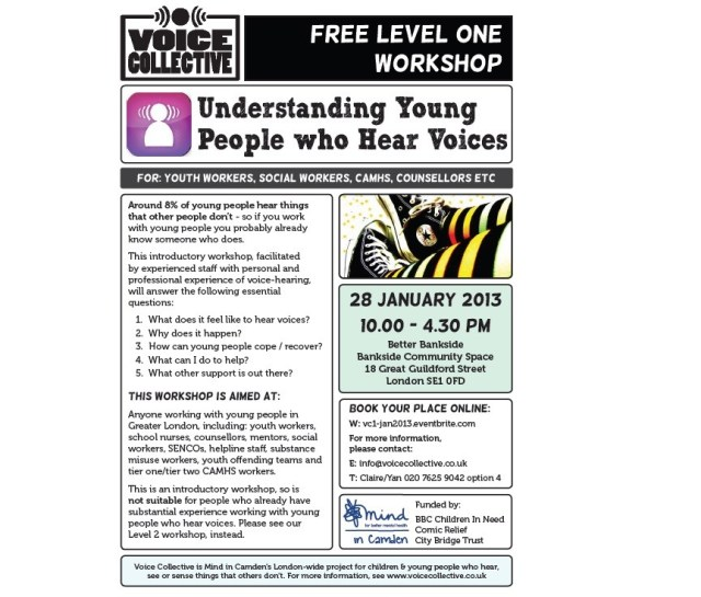 Voice Collective Training - Level One Workshop flyer