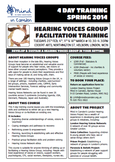 LHVN training flyer