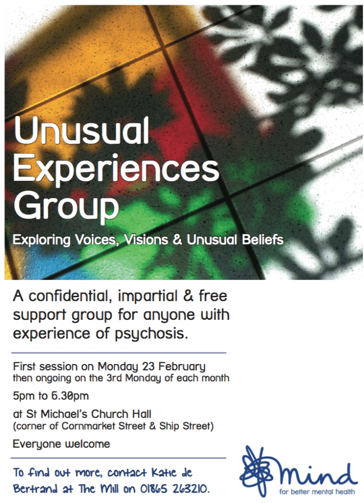 Unusual Experiences Group 23 Feb flyer