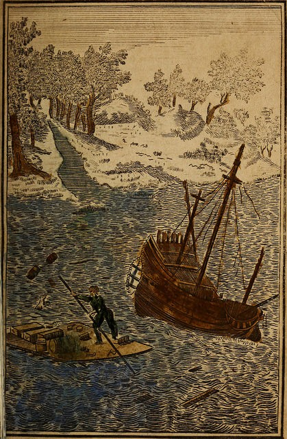 """Image from page 34 of """"The life and most surprising adventures of Robinson Crusoe, of York, mariner, who lived eight and twenty years in an uninhabited island on the coast of America near the mouth of the great river Oroonoque"""" (1811)"""