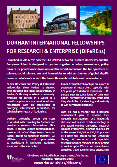 Durham University CoFUND flyer