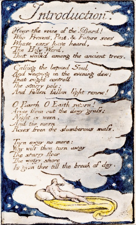 """""""Introduction"""" from William Blake's Songs of Innocence and of Experience"""