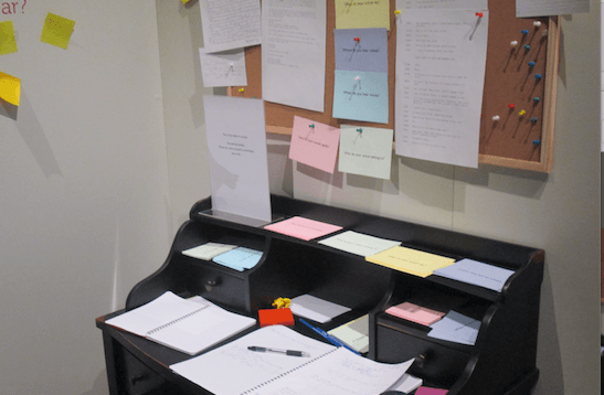 David Napthine's desk