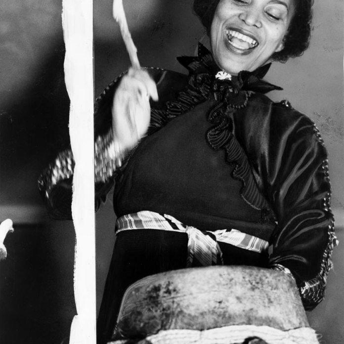 Zora Hurston beating the hountar, or mama drum