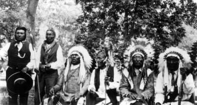 Brady Locks, Little Wolf, Black Crane, and Big Beaver, ca. 1926, Crow Agency, MT