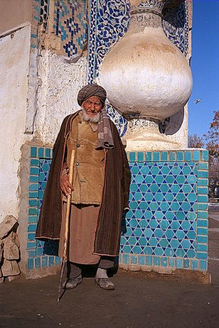 Man at the mosque in Balkh