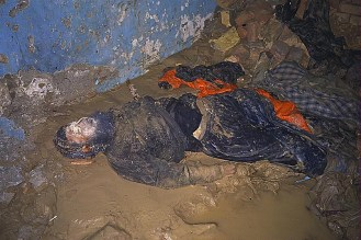 Dead man in the basement of Qala-i-Jhangi fortress