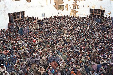 Sherbigan prisoners crowed into yard