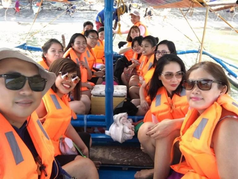 Corregidor by boat or 'banca'