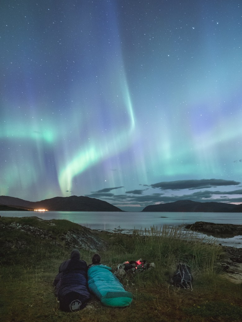 2. Camping under the northern lights