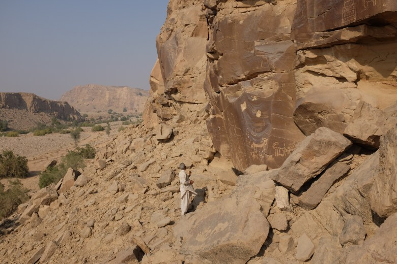 There are several sites in Dadu which have ancient rock art on them