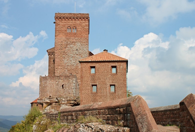 Trifels, a medieval castle in the town of Annweiler, in the middle of the Palatinate forest