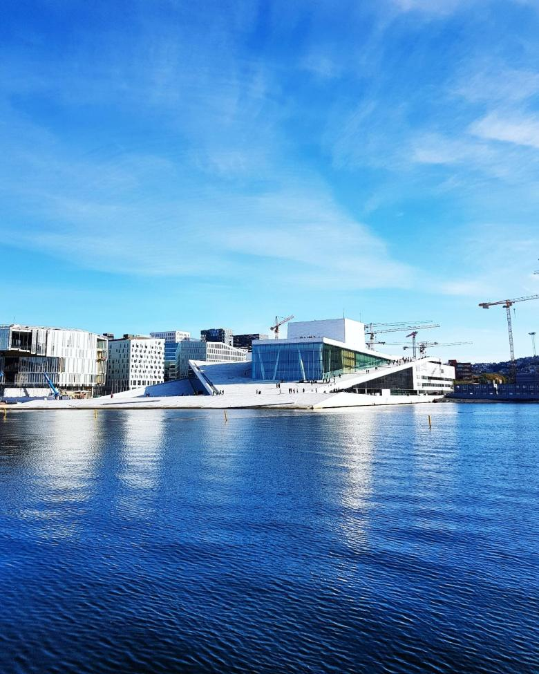 The Norwegian Opera and Ballet, right on the harbour in Oslo