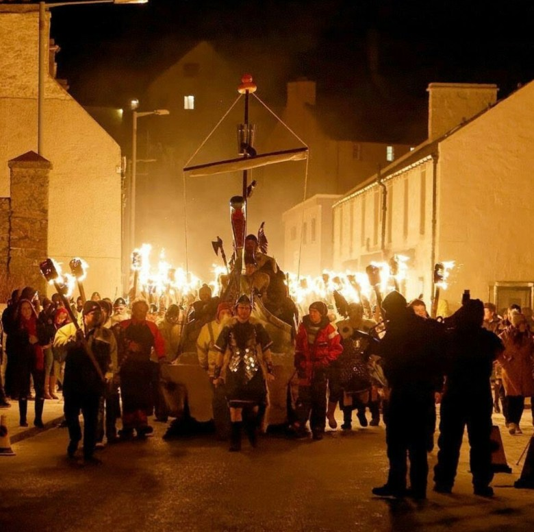 Up Helly Aa, Europe's biggest fire festival, celebrated in Shetland Islands