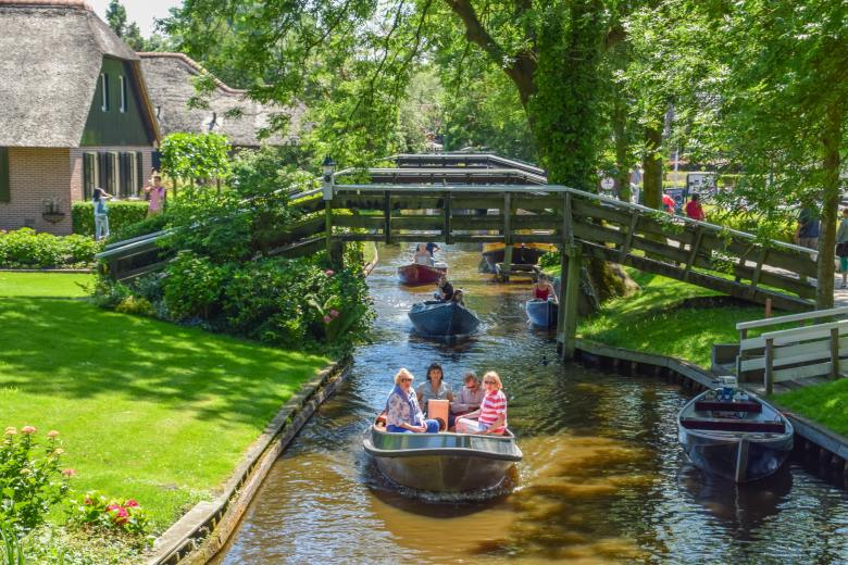 "Giethoorn or ""Goat horn"" is called so because of the discovery of goat horns in the area."