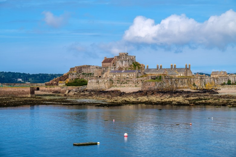Elizabeth Castle was built on a tidal island off the coast of St Helier