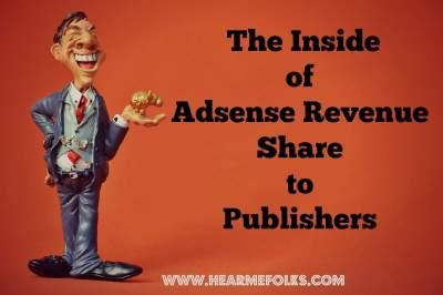 adsense revenue share to publishers