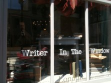 Writer in the Window @ The Paris Market in Savannah, GA