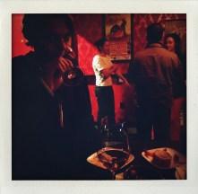 Dan tasting El Maestro Sierra at Bar Vivant