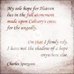Autobiography - Full Atonement - Spurgeon Photo Quote