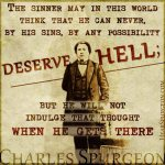 86. Sinner Deserve Hell - Charles Spurgeon Young Picture Quote