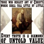 2533. Christ's Words Truth Diamond Value - Charles Spurgeon Old Man Picture Quote