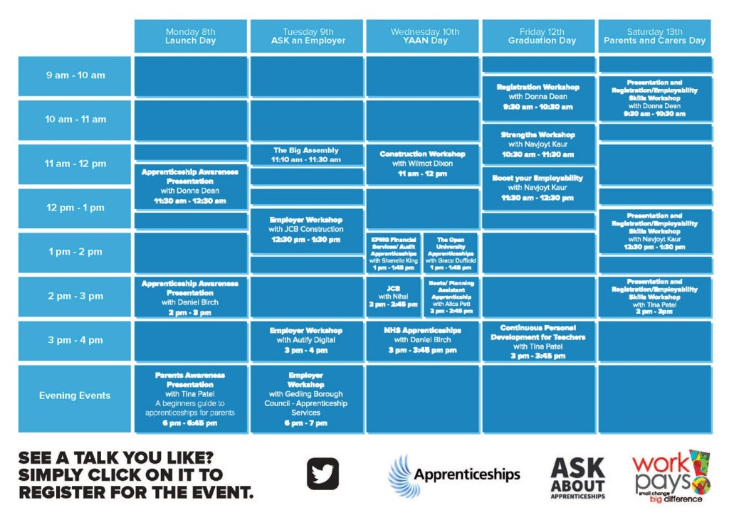 Work Pay apprenticeship timetable