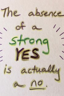 "Listening for/to the ""Strong YES"""