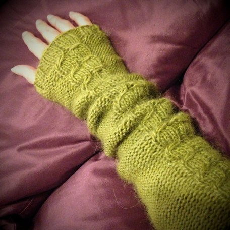 Spring Green Armwarmers