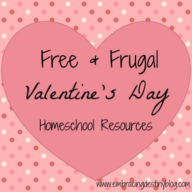 free & frugal Valentine #Homeschool Resources Lesson Plans Lapbooks Unit Studies