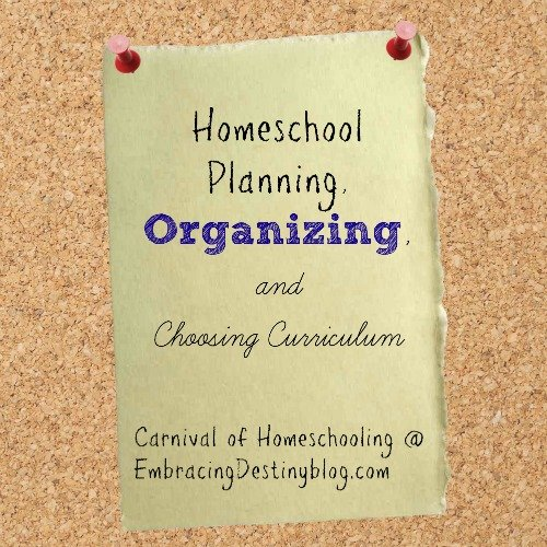 #Homeschool Planning, Organizing, & Choosing Curriculum